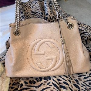 Gucci Soho Chain Bag in Beige Perfect Condition.